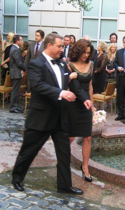 Hilarie burton at Danneel Harris's Wedding