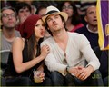 Ian & Nina - At  Lakers Game (HQ) - ian-somerhalder-and-nina-dobrev photo