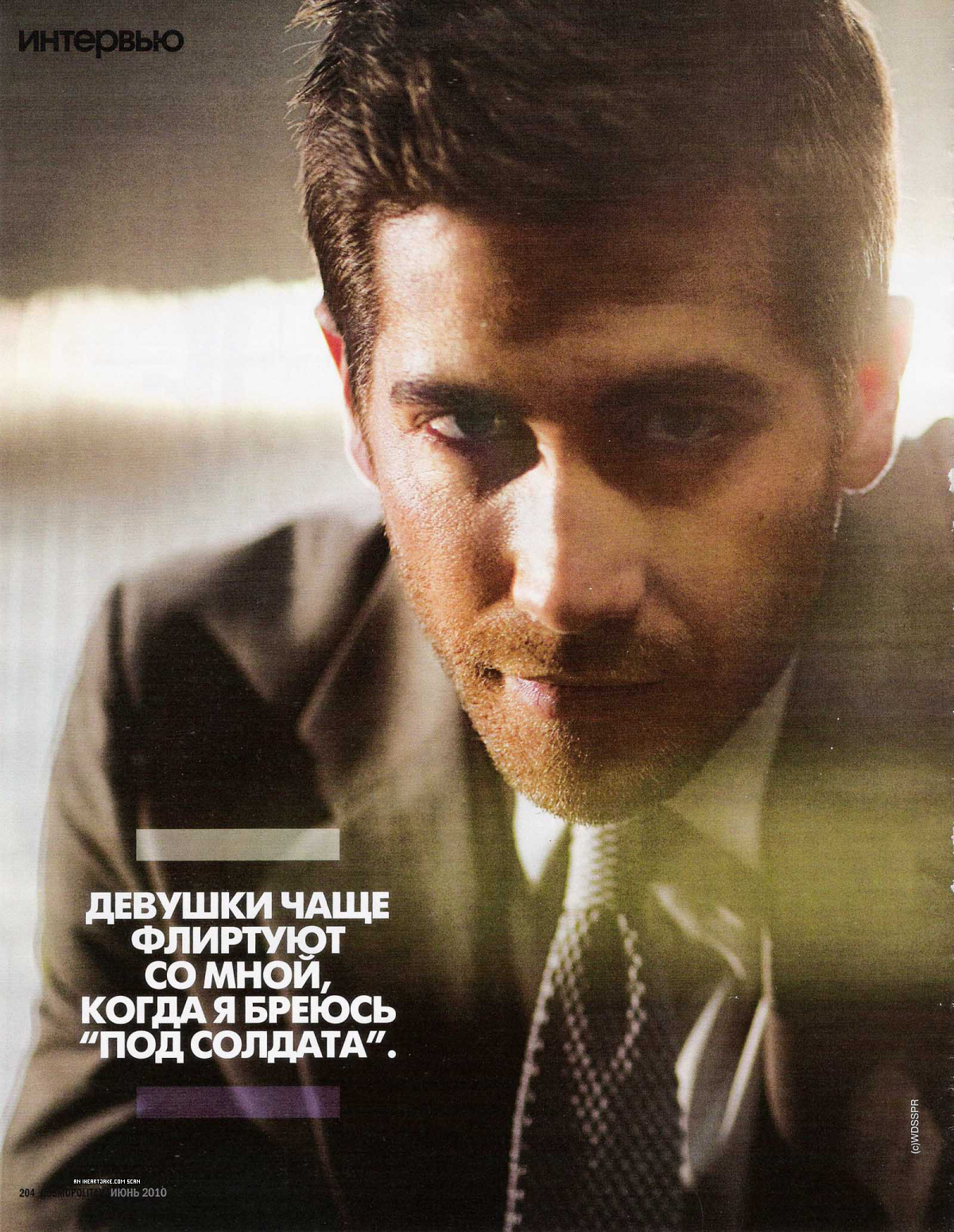 Jake in Cosmopolitan Russia Scans