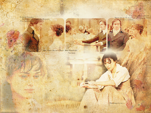 Jane Austen Обои entitled Lizzy and Mr. Darcy