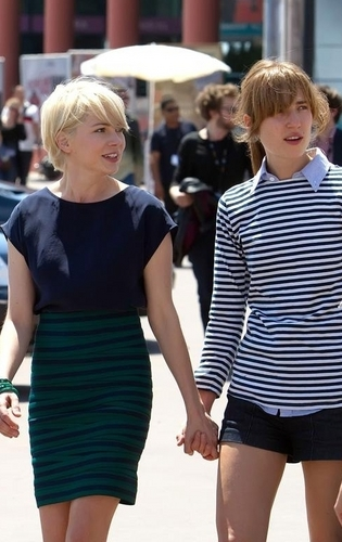 Michelle Williams - 63rd Cannes International Film Festival - Michelle and Friend head to BV Panel