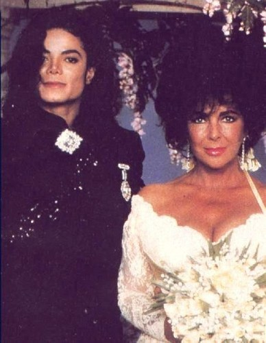 Mike with Liz Taylor!