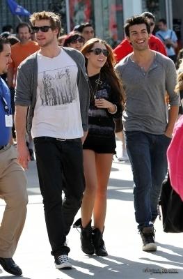 Miley&Liam♥. @ Universal Studios