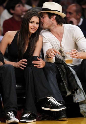 Nian at laker's game