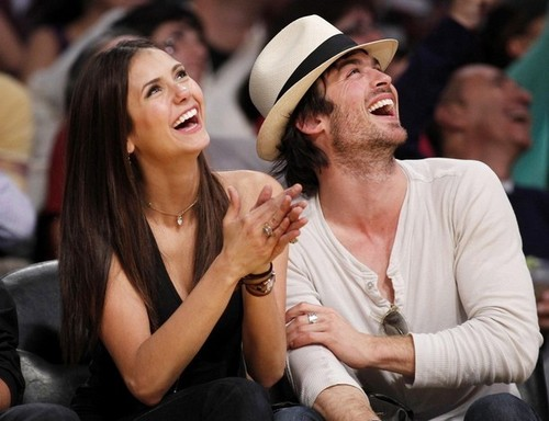 Nian at lakers game