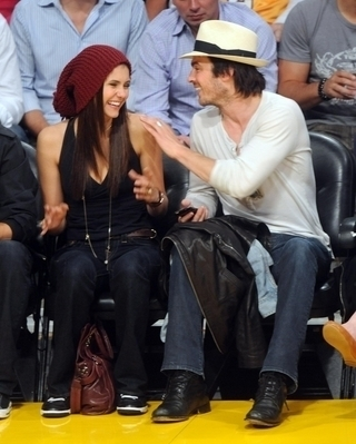 Nina & Ian @ LA Lakers Game