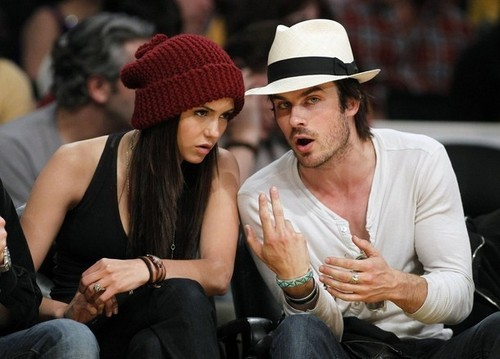 Nina and Ian at Laker's Game