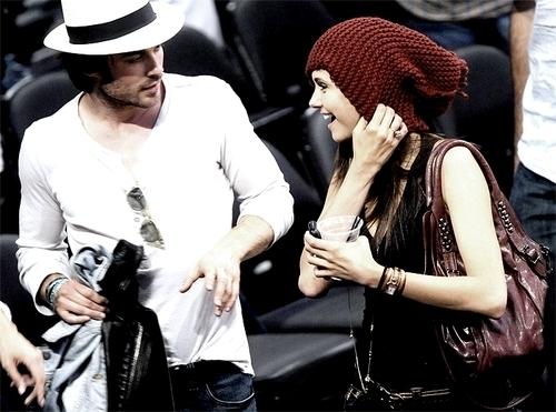 Nina and Ian at Laker's Game