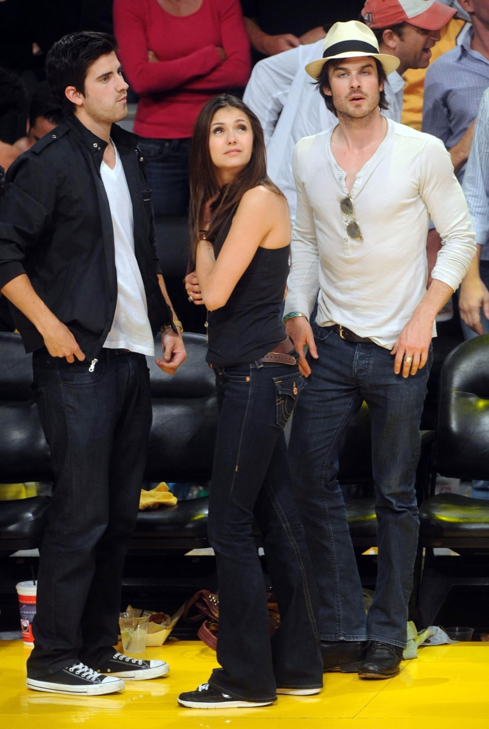 Ian Somerhalder Nina And Ian On Laker S Game