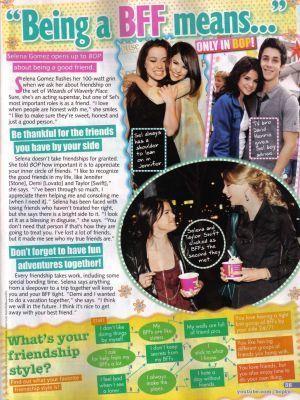 Selena in Bop (June/July 2010)