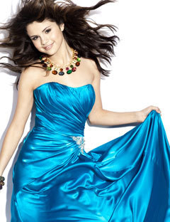 Selena's photoshoot for Seventeen Prom last year.