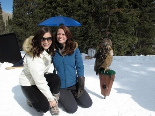 Sophia with Joy and Lydia/Owl in Utah! =D