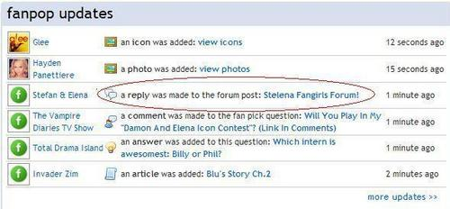 We are on fanpop updates..xD