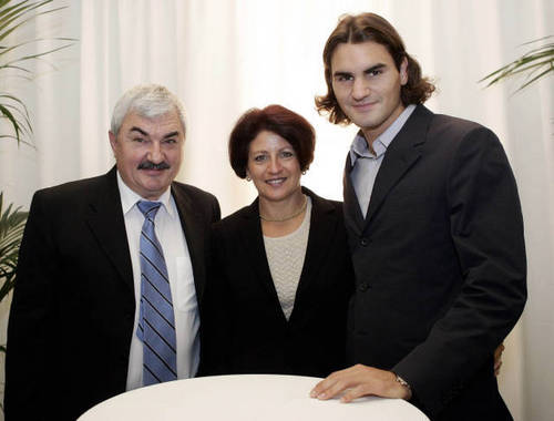 federer and parents
