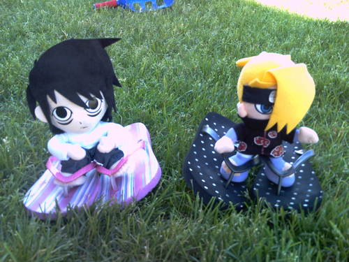 l and deidara plushie adventures