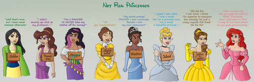 Disney Princess karatasi la kupamba ukuta entitled not real princesses