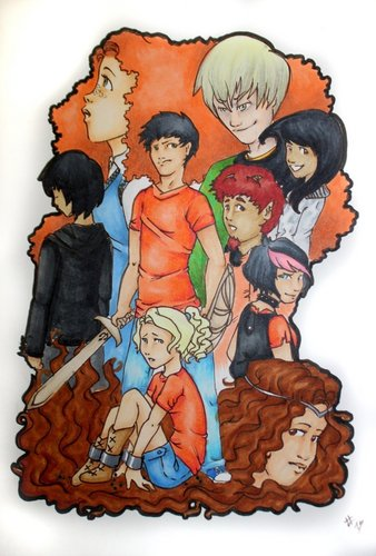 Percy Jackson Series Обои entitled pjato book 3 characters