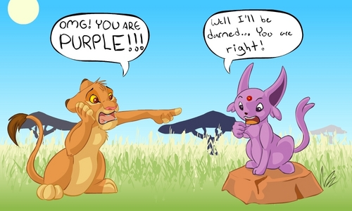 xD Simba and espeon
