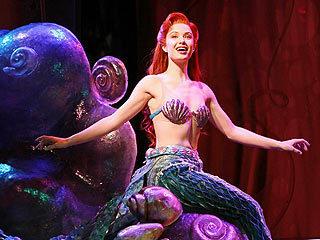 Ariel on her rock