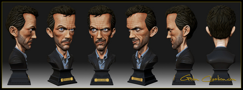 Caricature Hugh Laurie