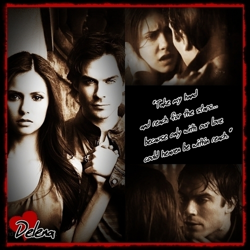 The Vampire Diaries Couples 壁纸 called Delena