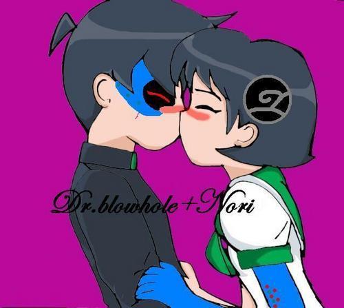 Dr.blowholeXNori kiss