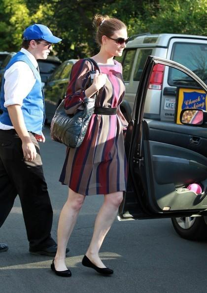 Emily DeschanelAttending Amy Adam's Baby Shower In Brentwood