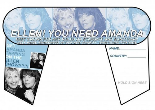 Amanda Tapping wallpaper entitled Help get AT on the Ellen Show