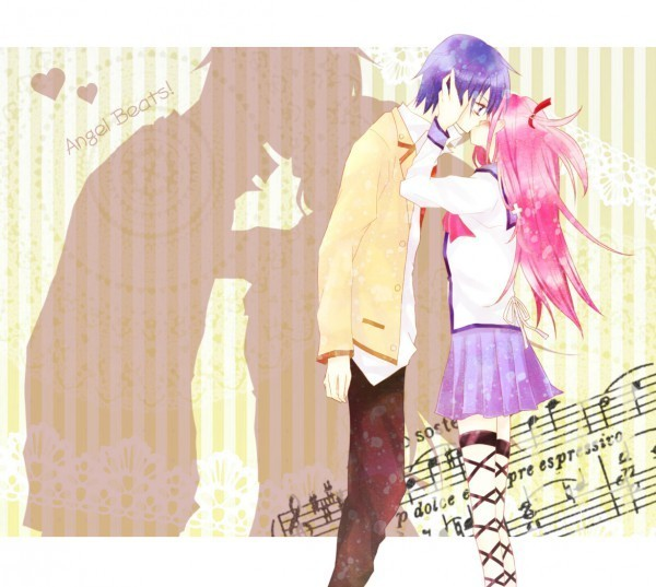 Hinata x Yui - Angel Beats! Fan Art (12640288) - Fanpop