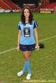 Kaya Scodelario in a football match
