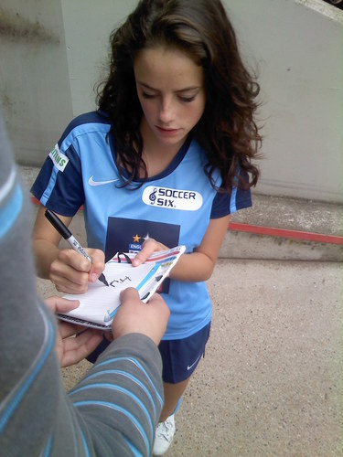 Kaya at football Six