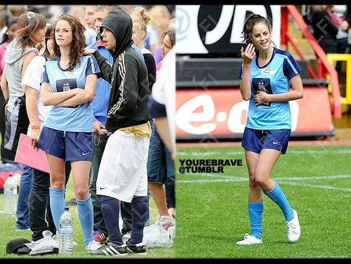 Kaya playing calcio yesterday.
