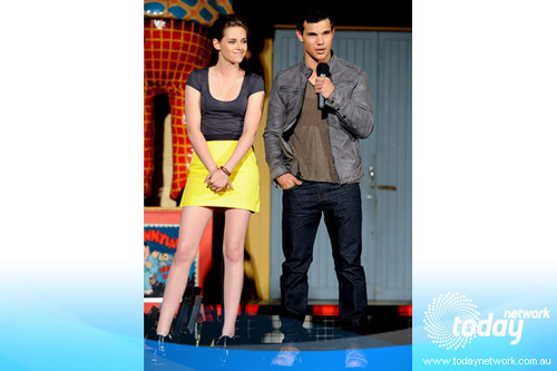 Kristen Stewart And Taylor Lautner Attend Q&A Session
