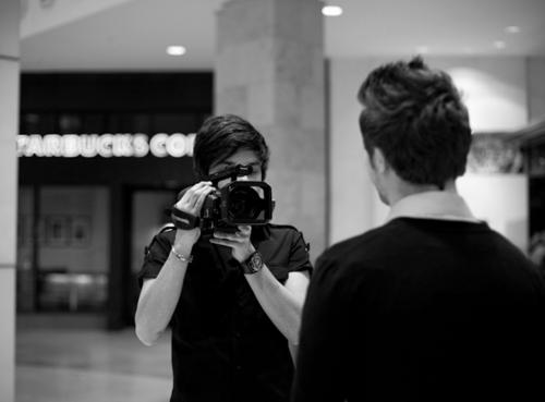Maika with a camera