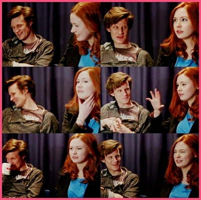 Matt Smith & Karen Gillan wallpaper called Matt and Karen Picspam
