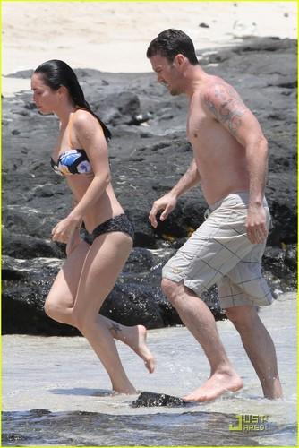 Megan & Brian @ The пляж, пляжный
