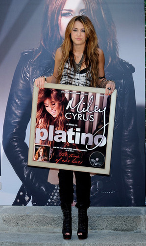 "Miley presents her new Album ""Can't Be Tamed"" at the Villamagna Hotel in Madrid,Spain (31/5/2010)"
