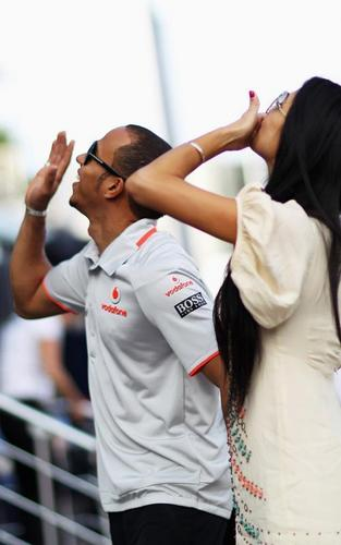 Nicole Scherzinger with Lewis Hamilton at the F1 Grand Prix in Istanbul (May 29)