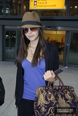 Nina Arriving @ Heathrow Airport