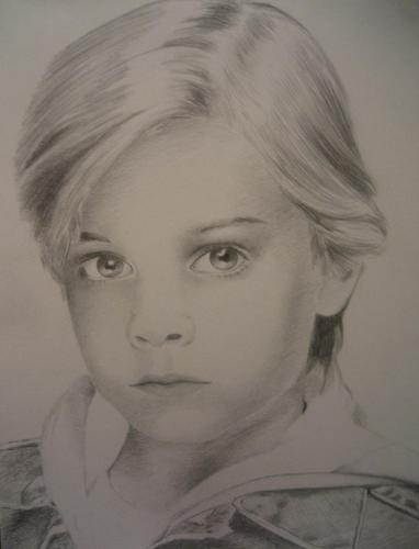 Portrait of a Young David Gallagher with Traditional Mediums