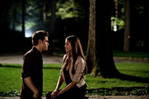 The Vampire Diaries Couples 壁纸 entitled Stefan and Elena