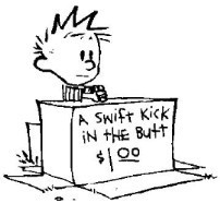 Swift Kicks in th Butt - calvin-and-hobbes Photo