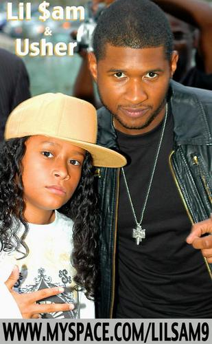 Usher and Lil Sam