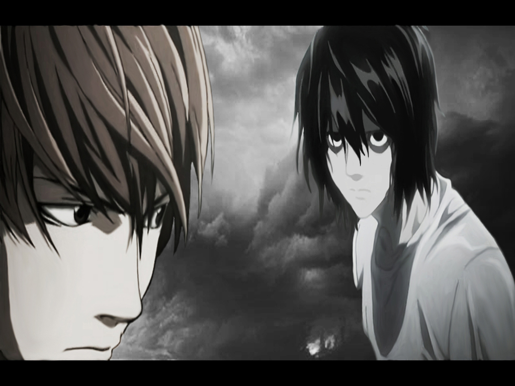 Death Note images l and light en la lluvia HD wallpaper ...