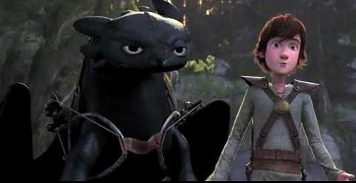 night-fury & hiccup - how-to-train-your-dragon Photo