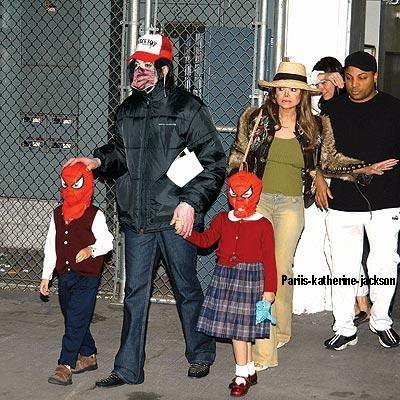 prince and paris wearing spider man masks - the-jackson-children Photo