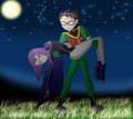 robin raven - teen-titans fan art