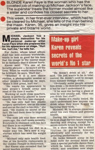 * MICHAEL'S MAKE UP GIRL KAREN REVEALS SECRETS *