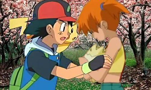 Ash Ketchum achtergrond entitled Ash and Misty