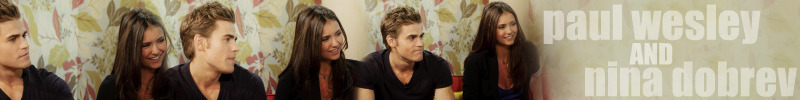 Banner made by LoveLiesAndLust - paul-wesley-and-nina-dobrev fan art